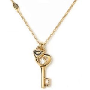 Juicy Couture Gold Skeleton Key Chain Necklace
